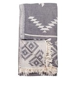 TTGE3 Turkish Towel Geometric Spanish Grey