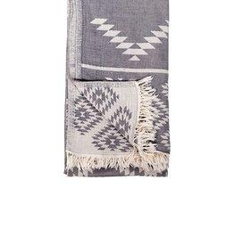 TTGE3 Turkish Towel Geometric Spanish Grey