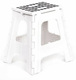 Kikkerland Kikkerland ZZ14-WH step stool folding tall white