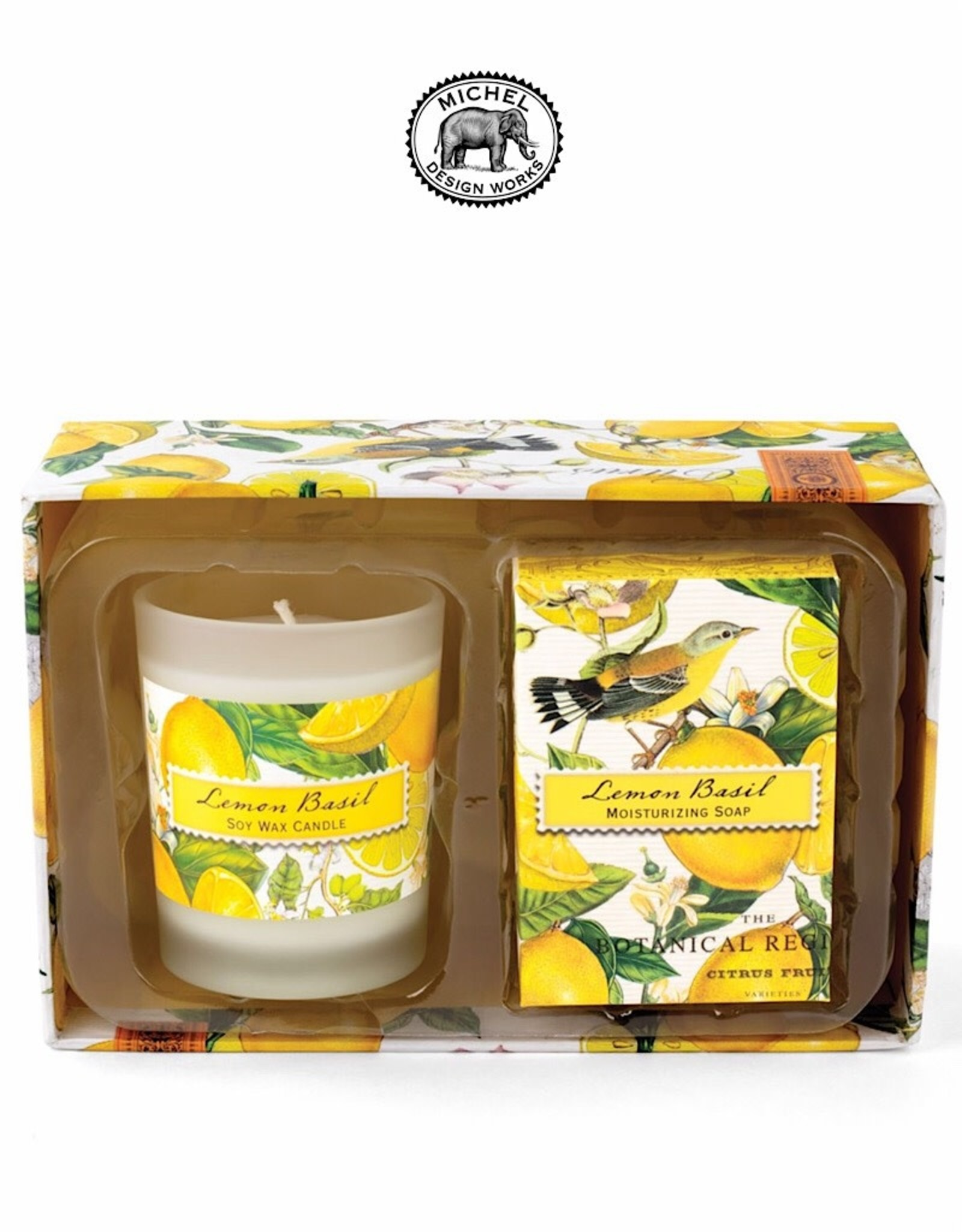 CSS8 Lemon Basil Candle And Soap Gift Set