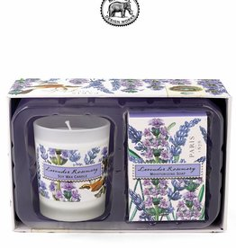 CSS81 Lavender Rosemary Candle And Soap Gift Set