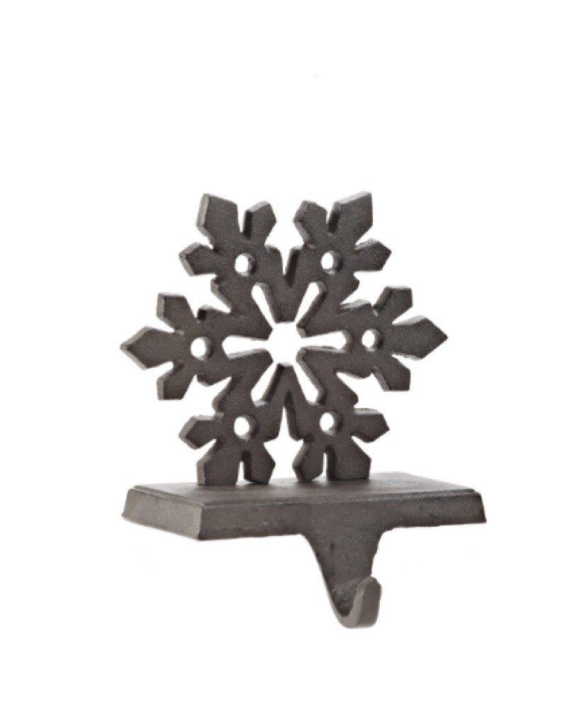 27-IRON AGE/185 Snowflake Stocking Holder Dark