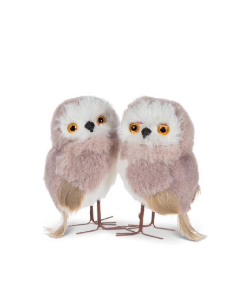 Pink Plush Standing Owl