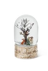 "27-WOW-3121 Tall Animals & Tree Snow Globe 7""H"