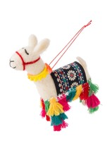 27-MAPLE-1281 Llama Tassels Ornament