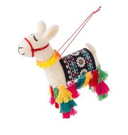 27-MAPLE-1281 Llama Tassels Ornament