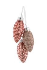 """15-PINECONE-2370 Rose Pinecone Cluster 6"""""""
