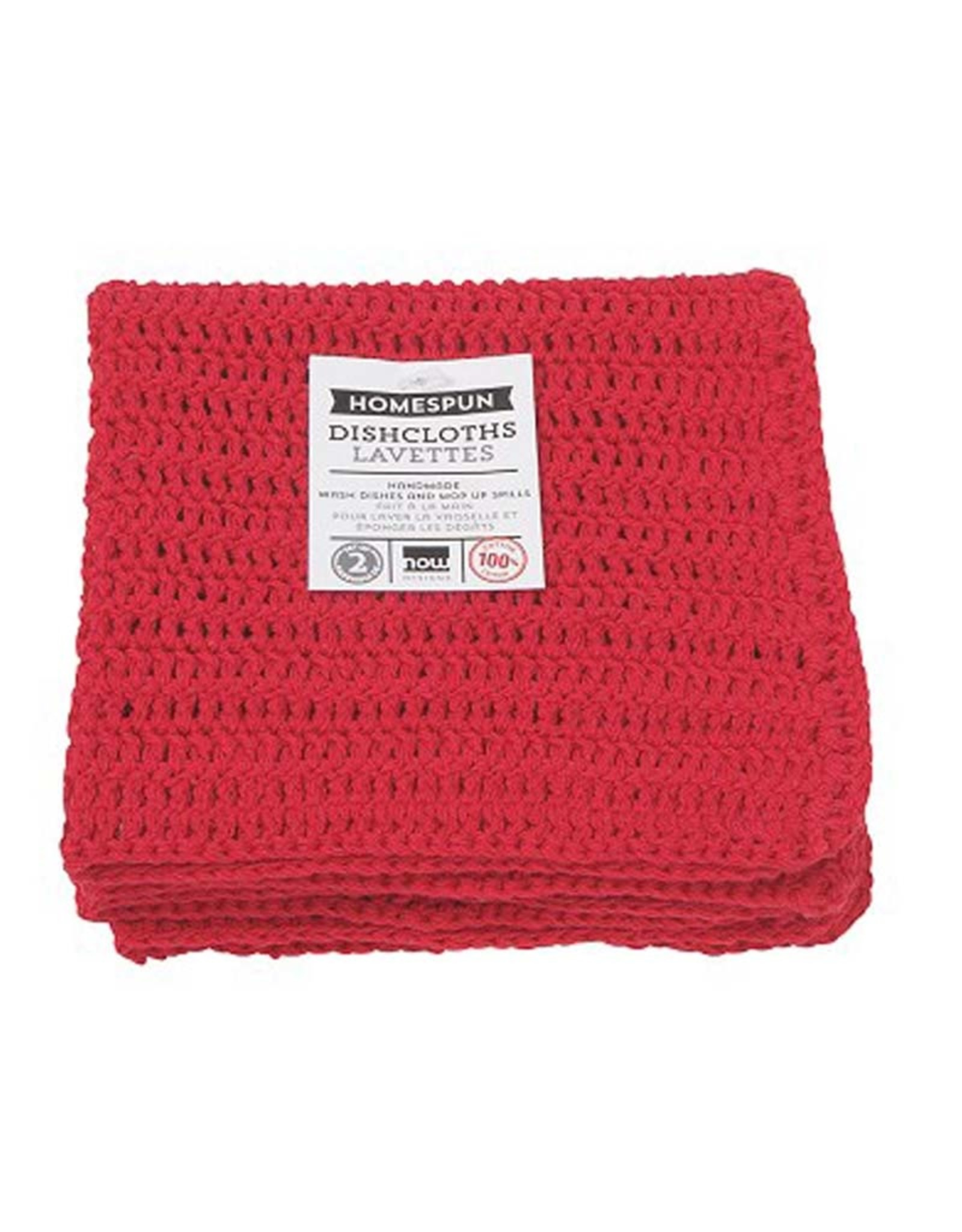Now Designs Homespun Dishcloth Set of 2