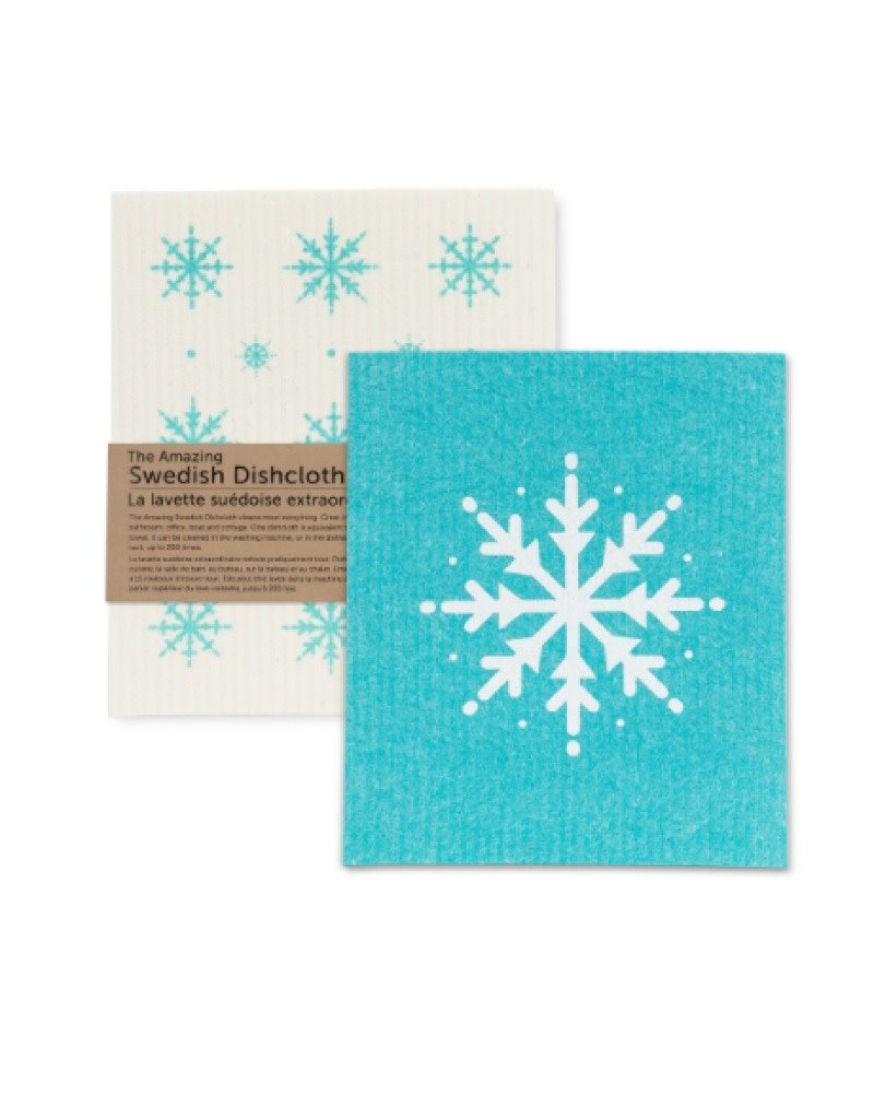 84-ASD-ABX-05 Snowflake Swedish dishcloth assorted