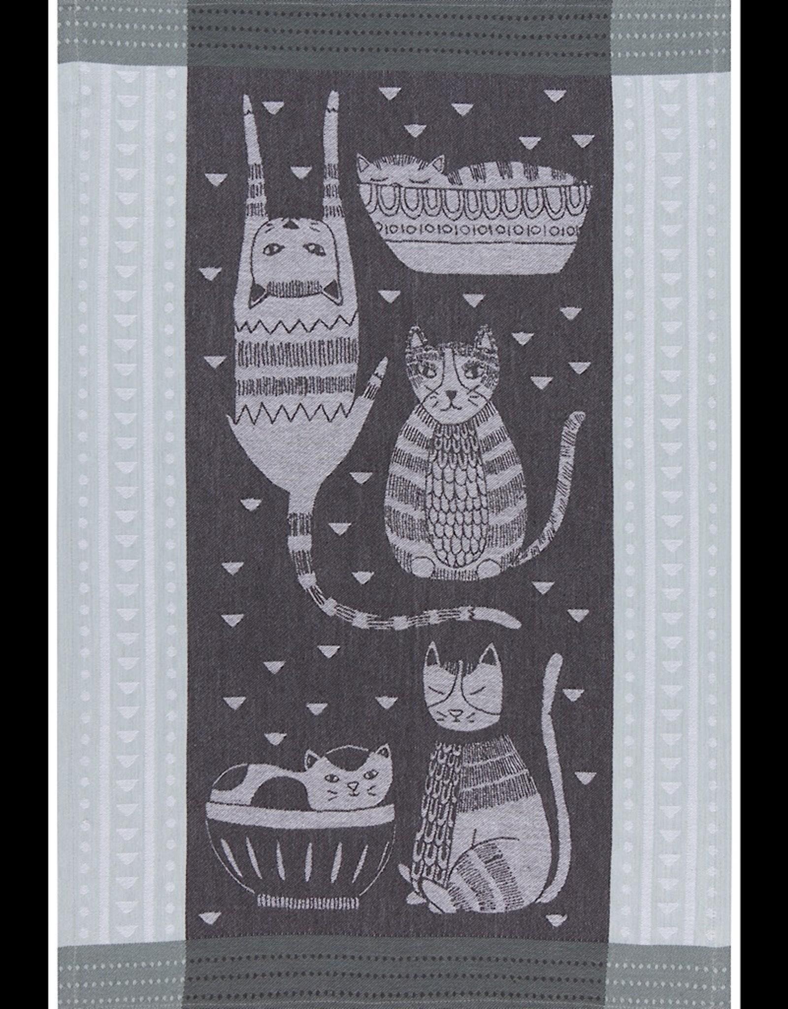 Tea Towel Purr Party Jacquard
