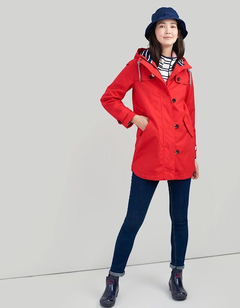 Joules Joules Fall 2019 Coast Mid length Rain Jacket