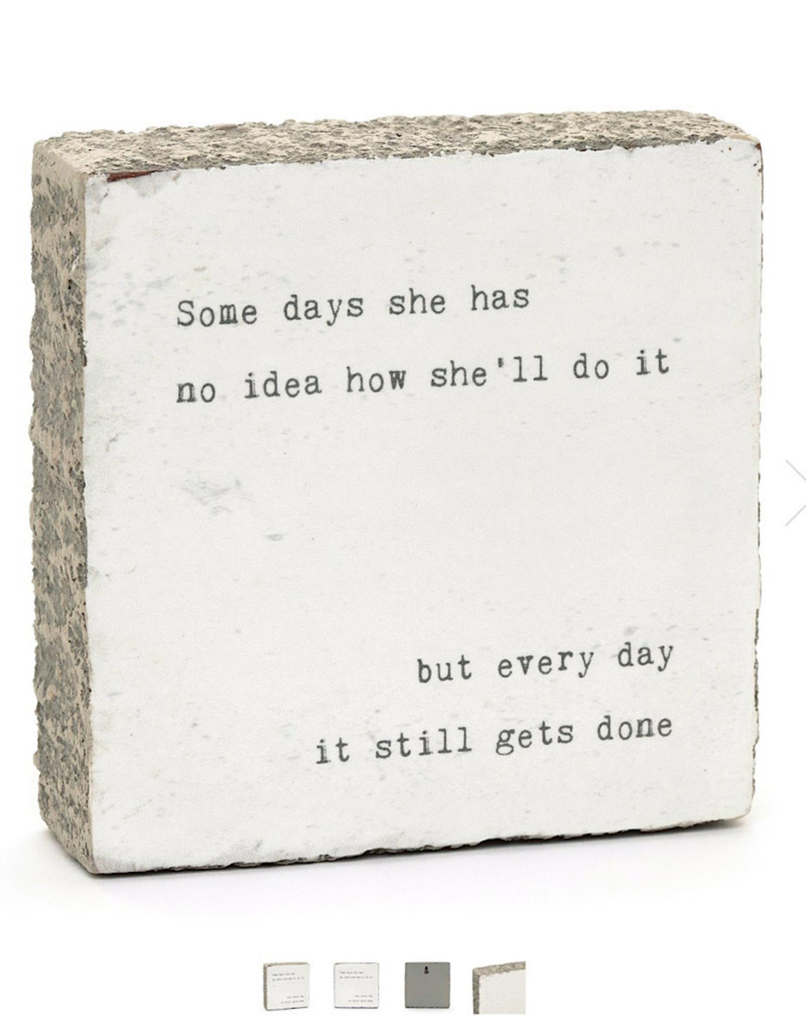 """Cedar Mountain Small Art Block """"quotes"""" click for more"""