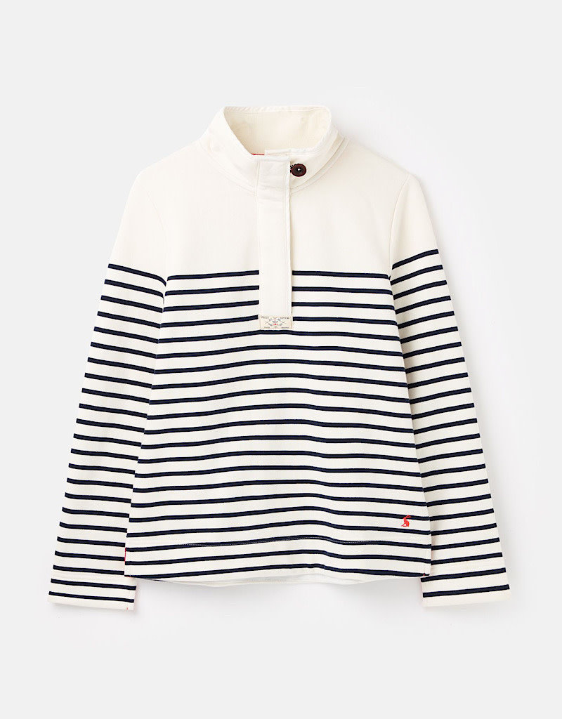 Joules Saunton Stripe Classic Red or Cream Sweatshirt Spring 2020