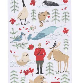 Now Designs Dishtowel Tea Towel True North Print