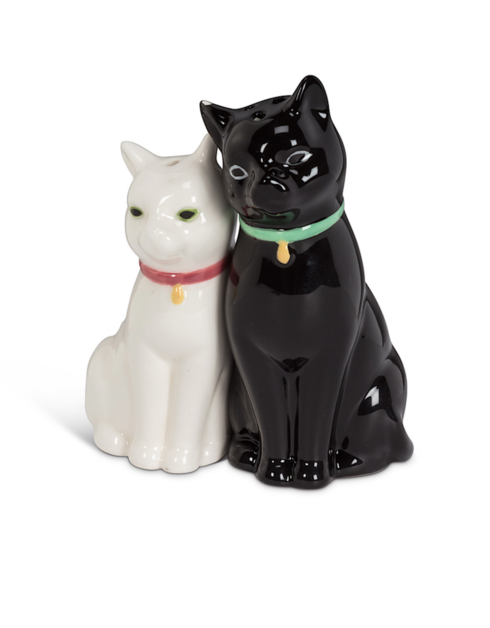 Cuddling Black White Cat Salt Pepper Shaker A Monkey Tree Emporium