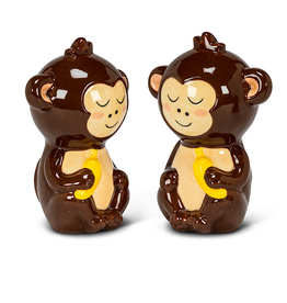 27-KITSCH-004 Monkeys Salt & Pepper shaker