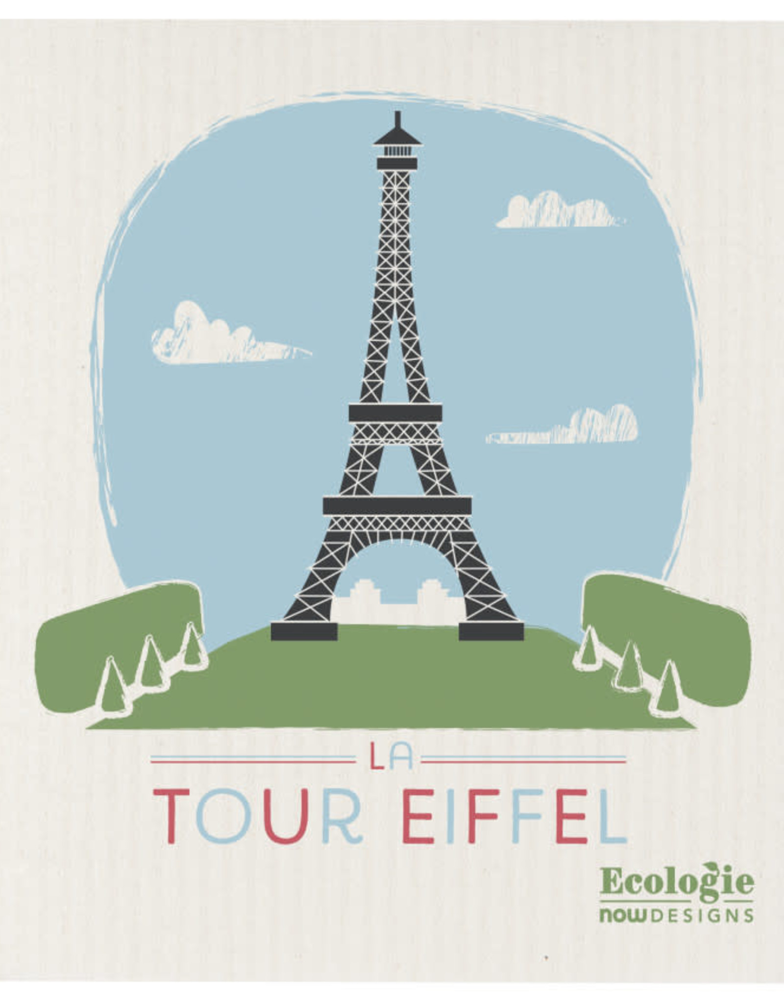 Now Designs Swedish Dishcloth La Tour Eiffel Ecologie