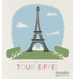 Now Designs Swedish Dishcloth La Tour Eiffel Ecologie
