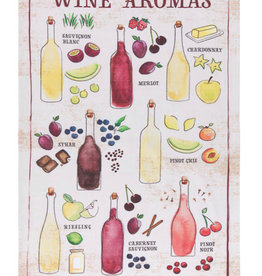 Now Designs Tea Towel Wine Aromas Print