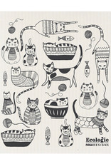Now Designs Swedish Dishcloth Purr Party Ecologie