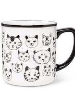 """Simple Cat Faces Mug 4"""" 14oz"""