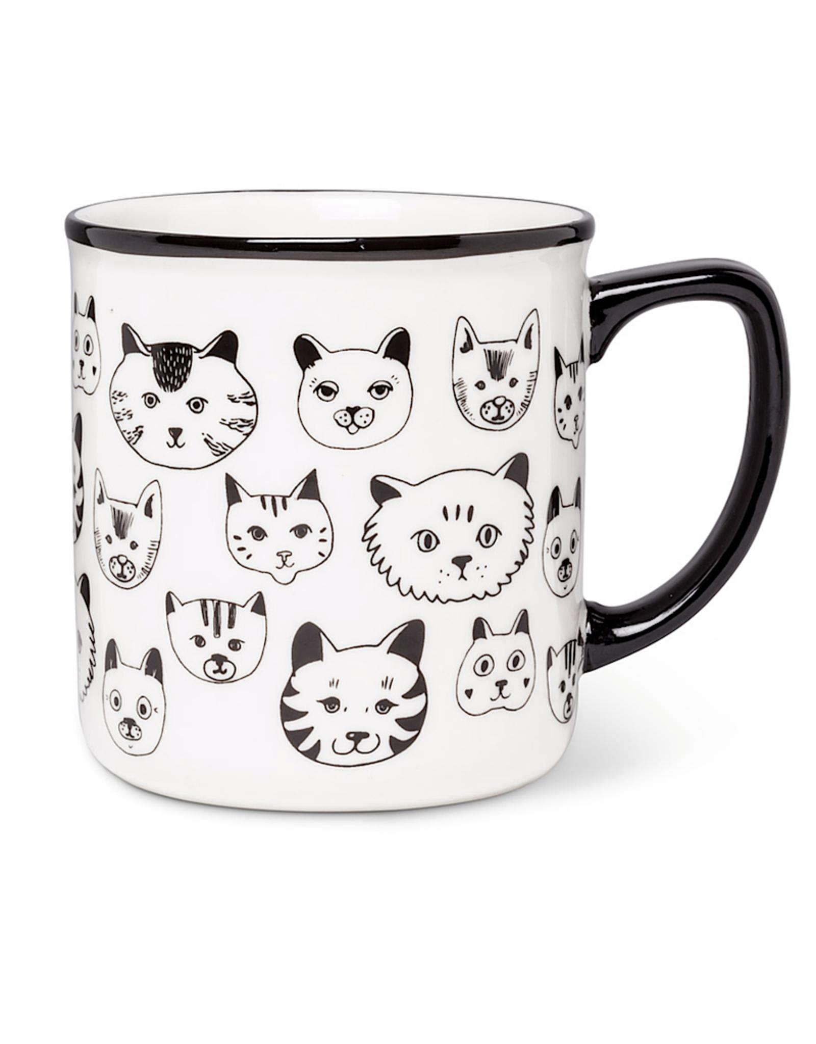 Simple Cat Faces Mug 4 14oz A Monkey Tree Emporium