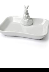 """Rabbit Soap Dish White 5""""L"""