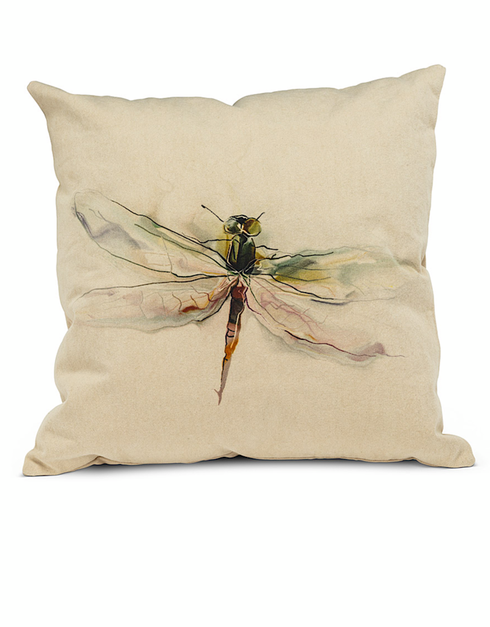 """Dragonfly Pillow 18"""" square"""