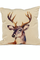 "Stag Head Pillow 18"" Square"