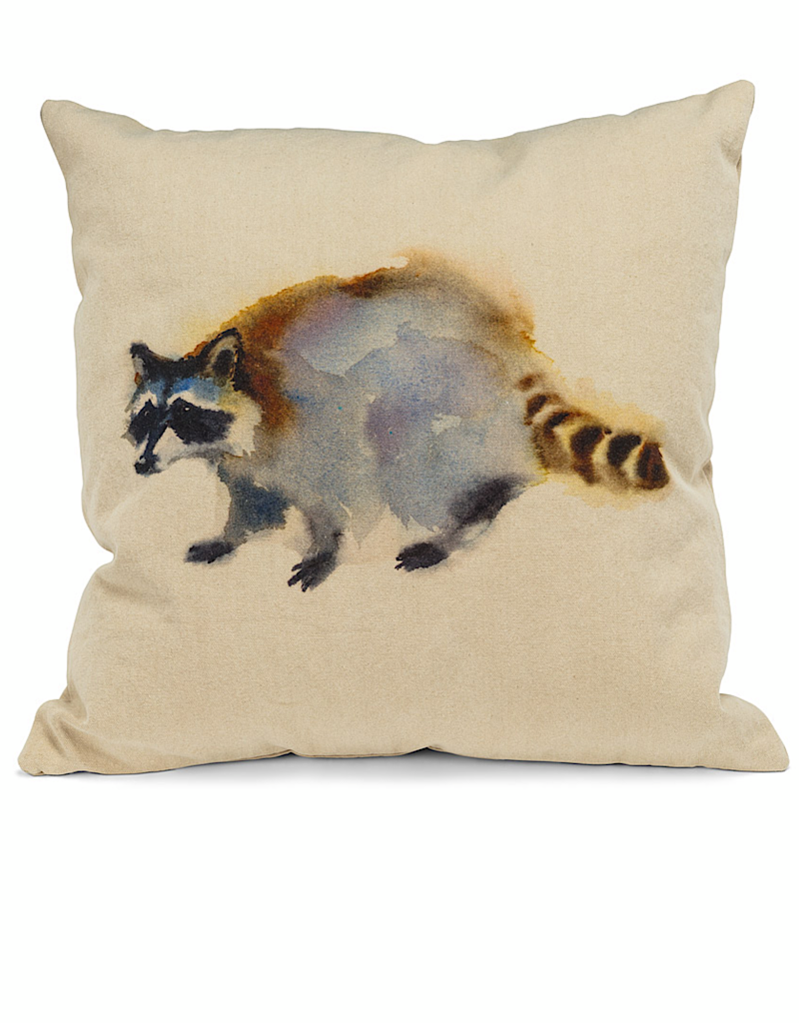 "Raccoon Pillow 18"" Square"