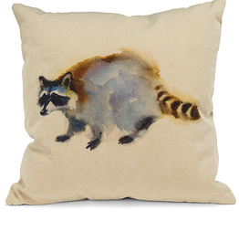 "Raccoon Pillow 18"" Square"