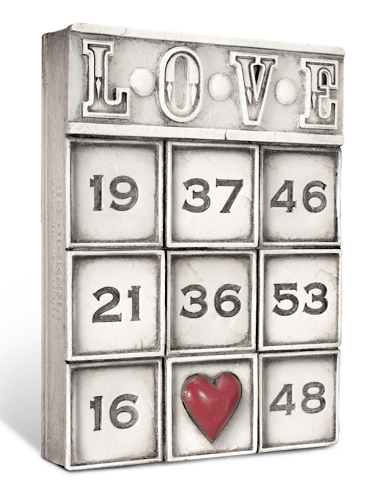 Sid Dickens T-463 LOVE Memory Block