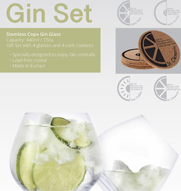 Stemless Gin Copa Glass with Coasters