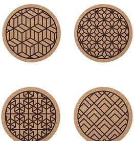 Cork Coasters Geometric Print