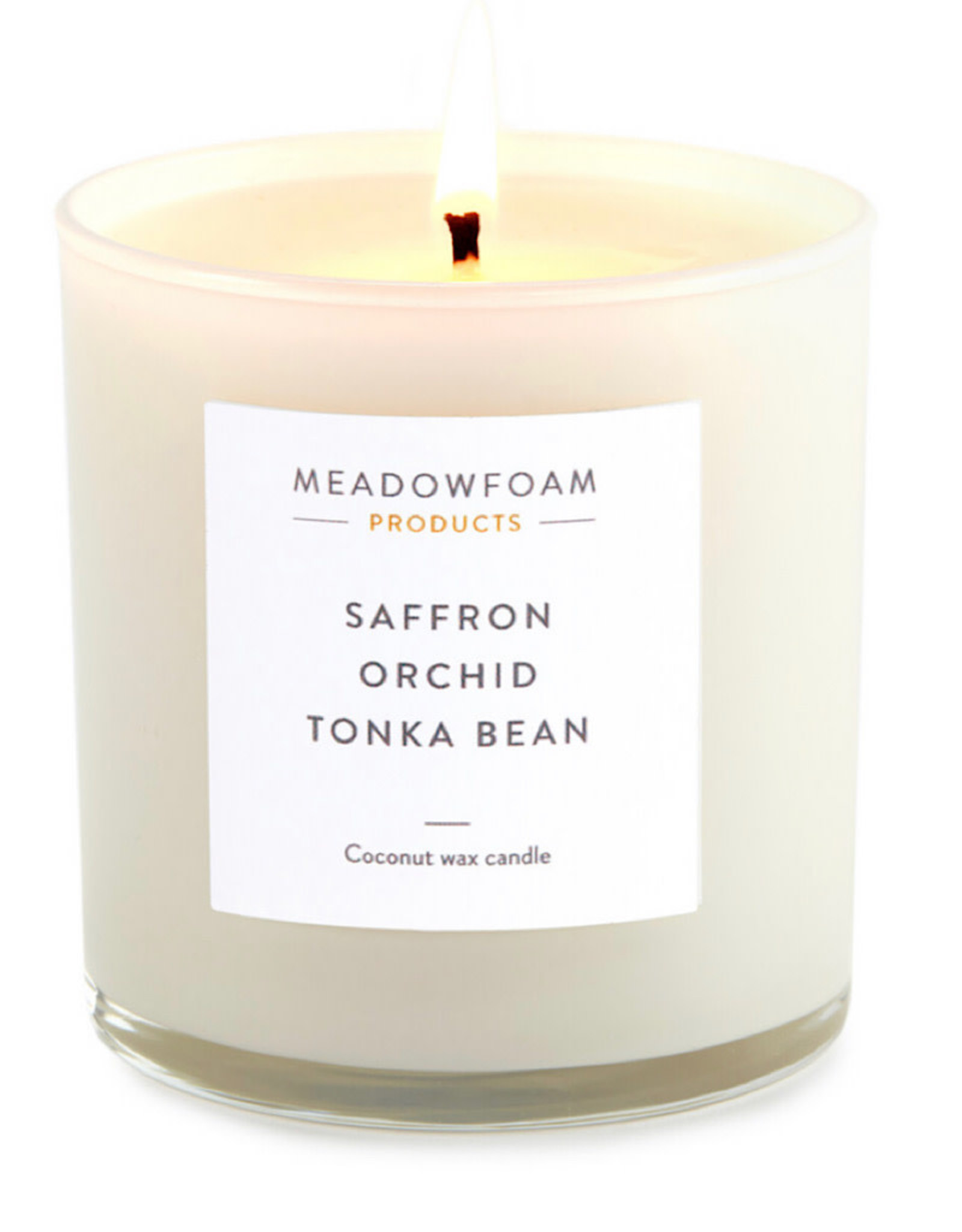 Meadowfoam 11oz Candle COTTON Wick in Cocktail Glass