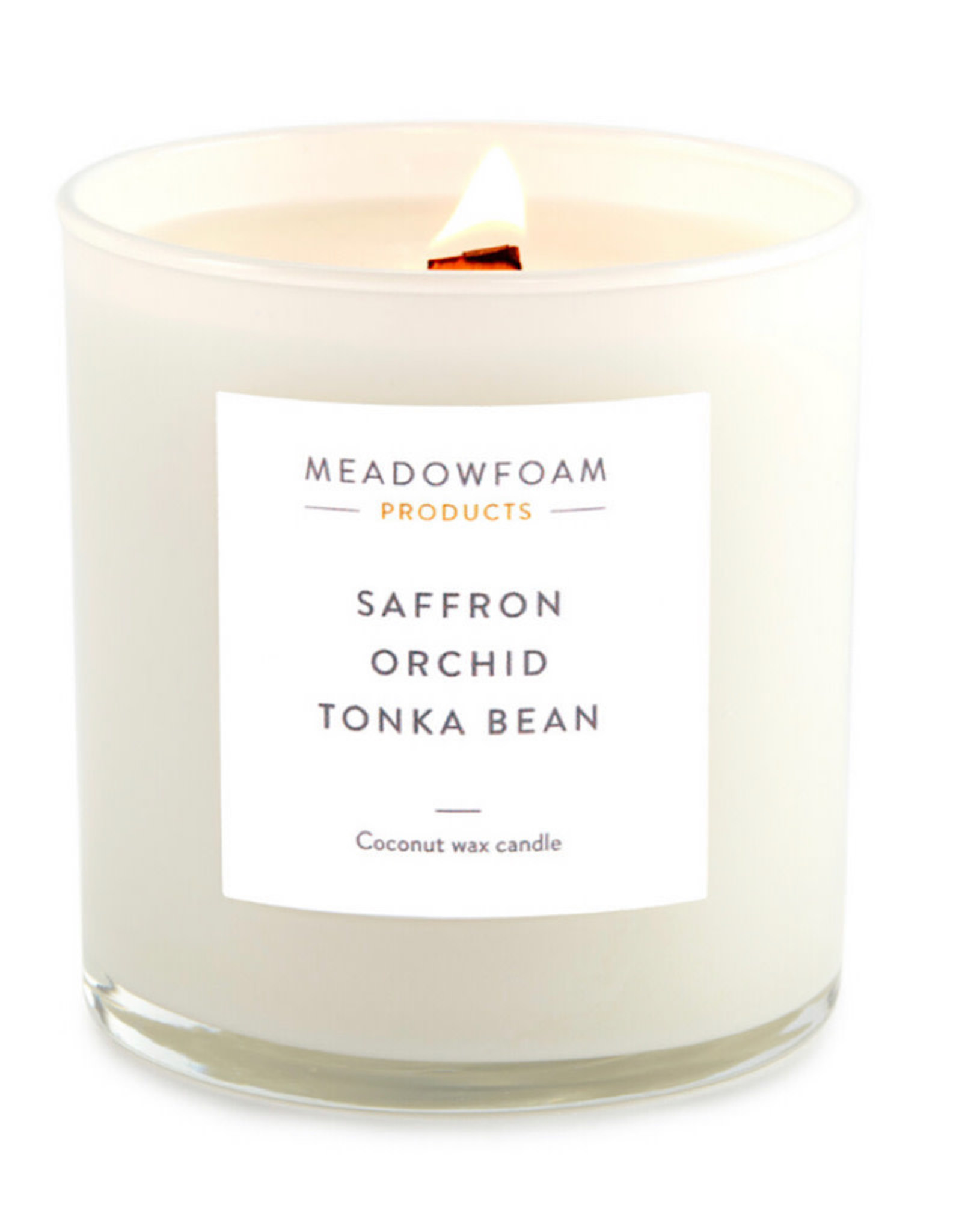 Meadowfoam 13.5oz Candle WOOD Wick in Cocktail Glass