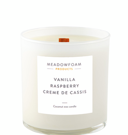 Meadowfoam 11oz Candle WOOD Wick in Cocktail Glass