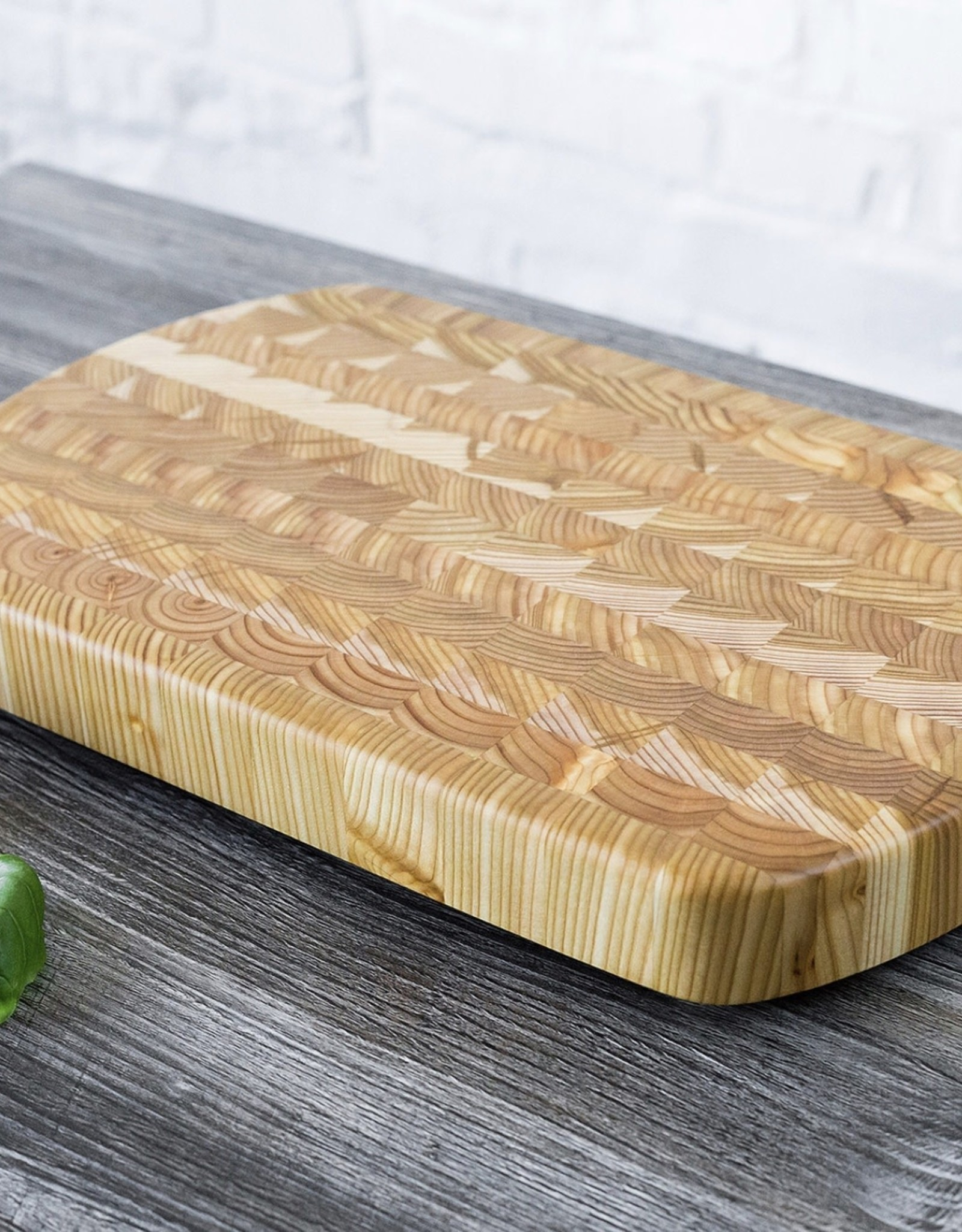 Wood Cutting Board Curved End #1 15 x 9.5 x 1.5 inches