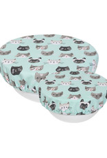 Now Designs 2023007 Save It Bowl Covers Set of 2 Cats Meow