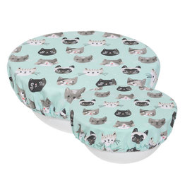 Now Designs Save It Bowl Covers Set of 2 Cats Meow