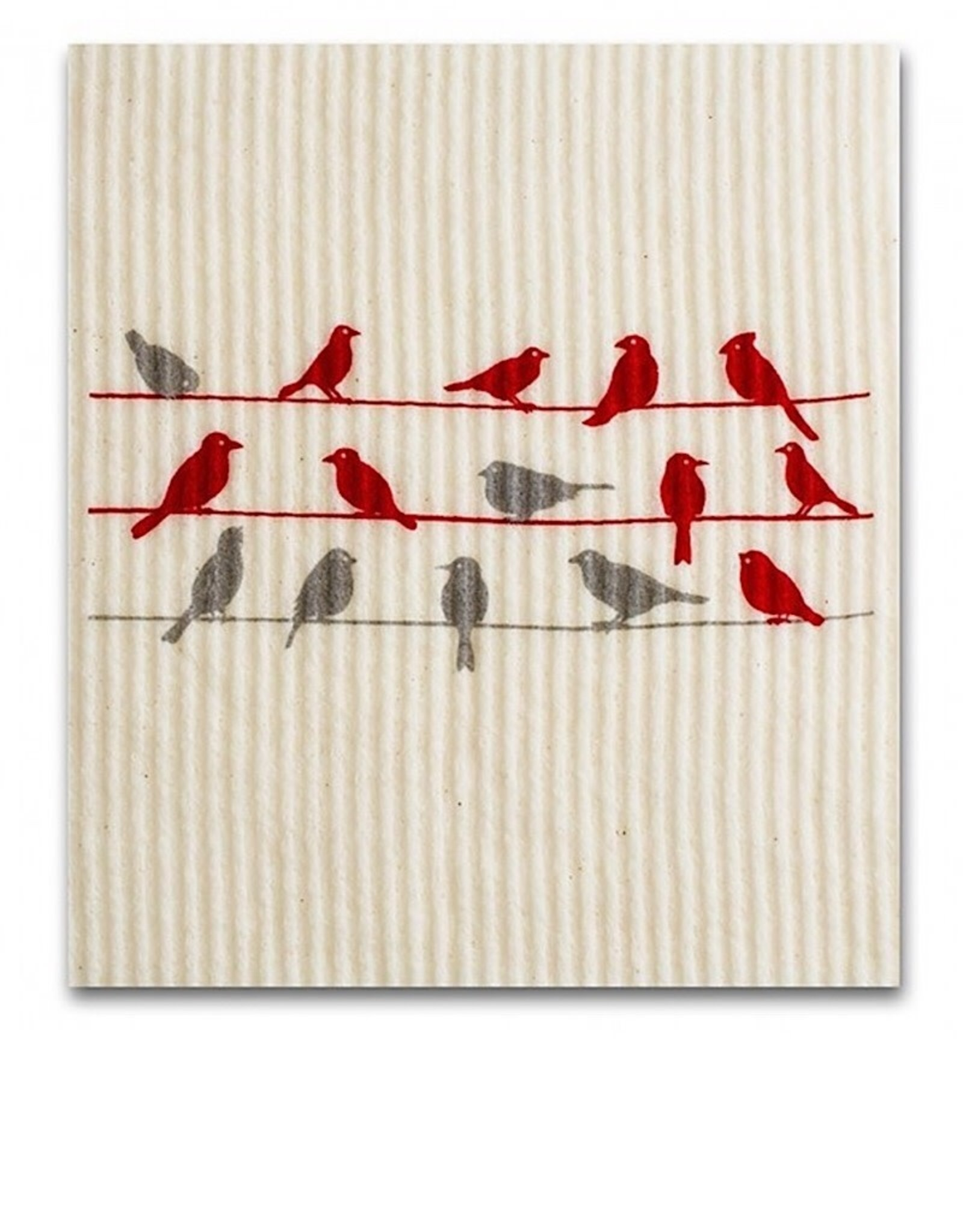 Swedish Dishcloth click to see more Birds on a wire