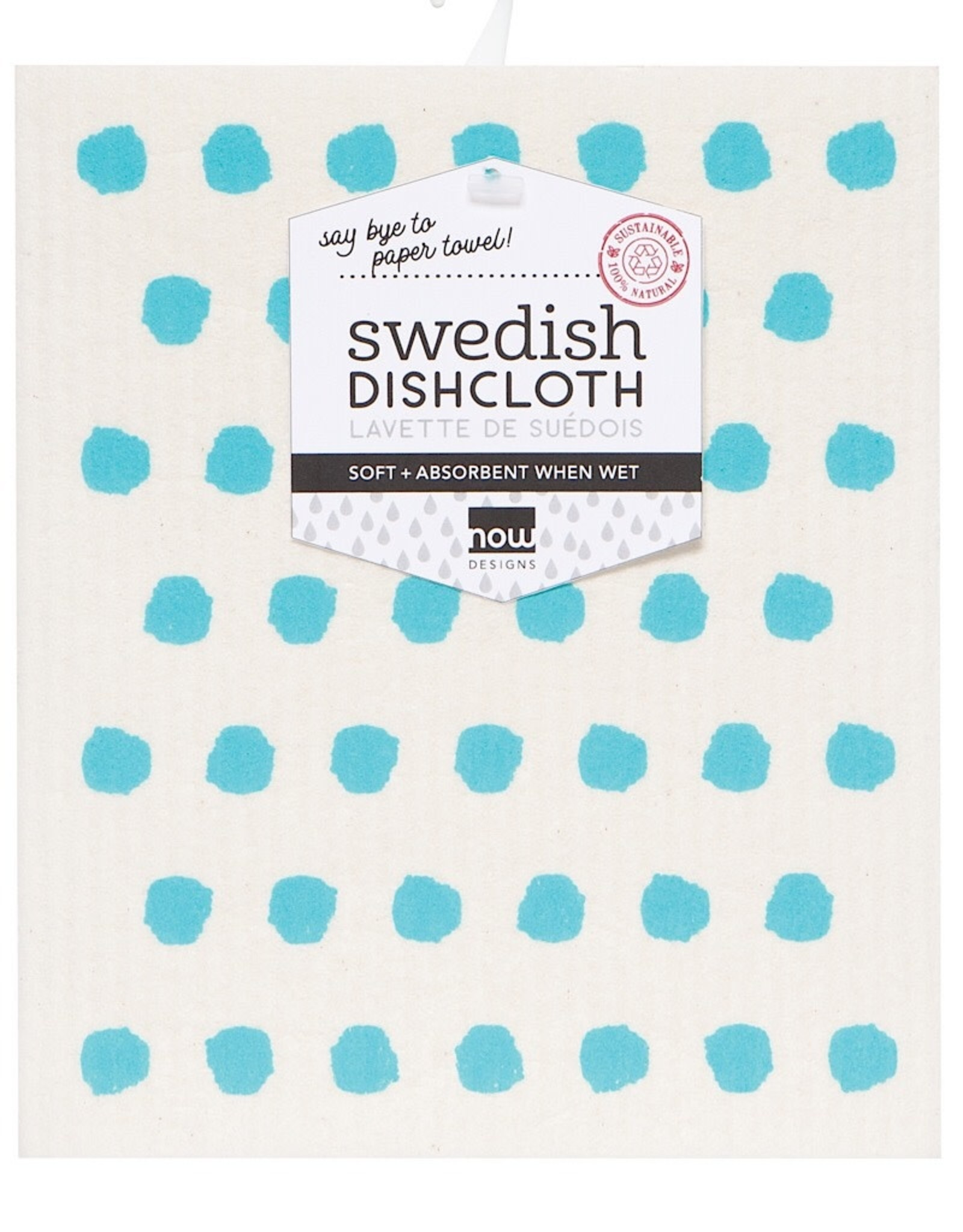 Now Designs 2040485 Swedish Dishcloth Bali Blue