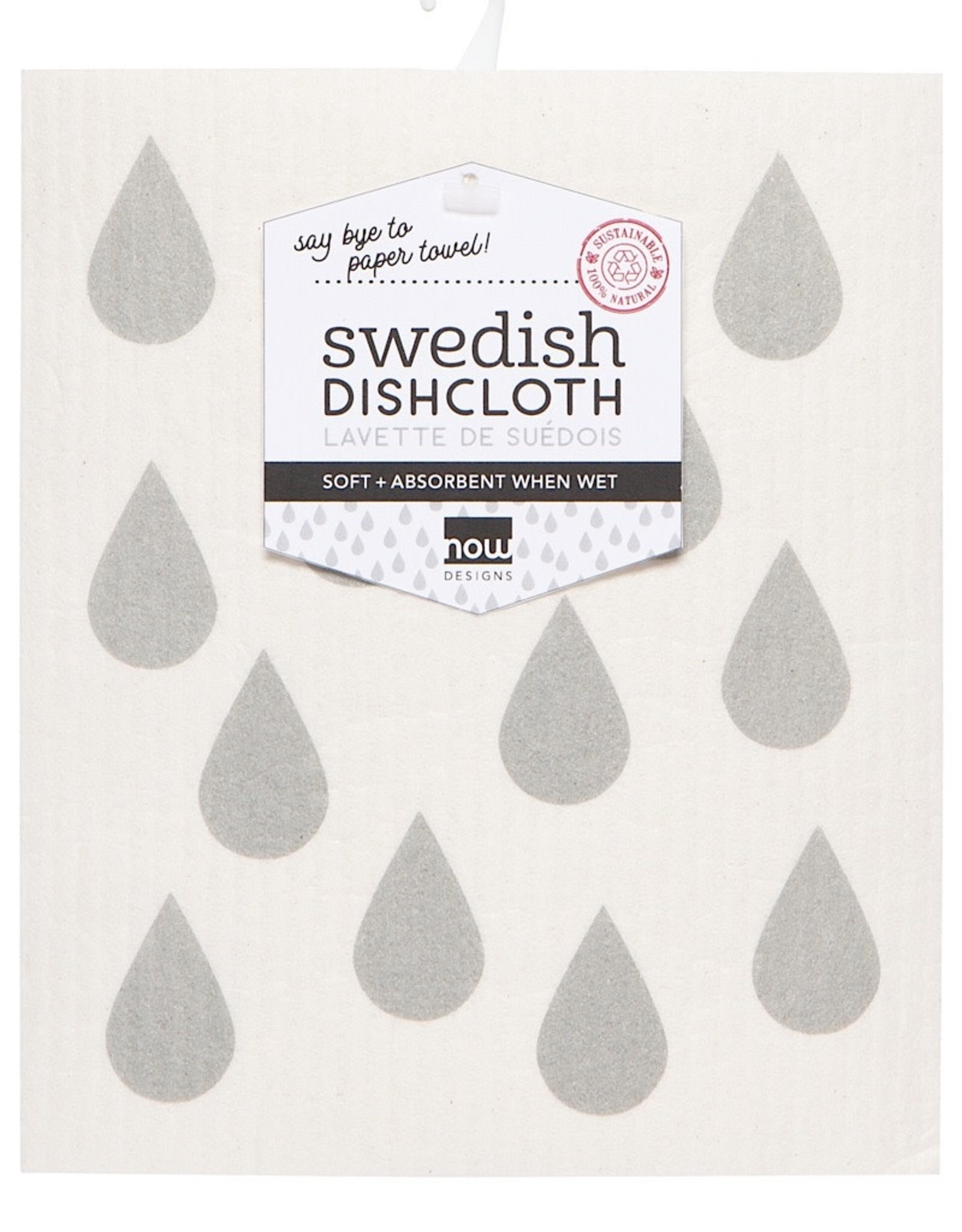 Now Designs Swedish Dishcloth click to see more London Gray