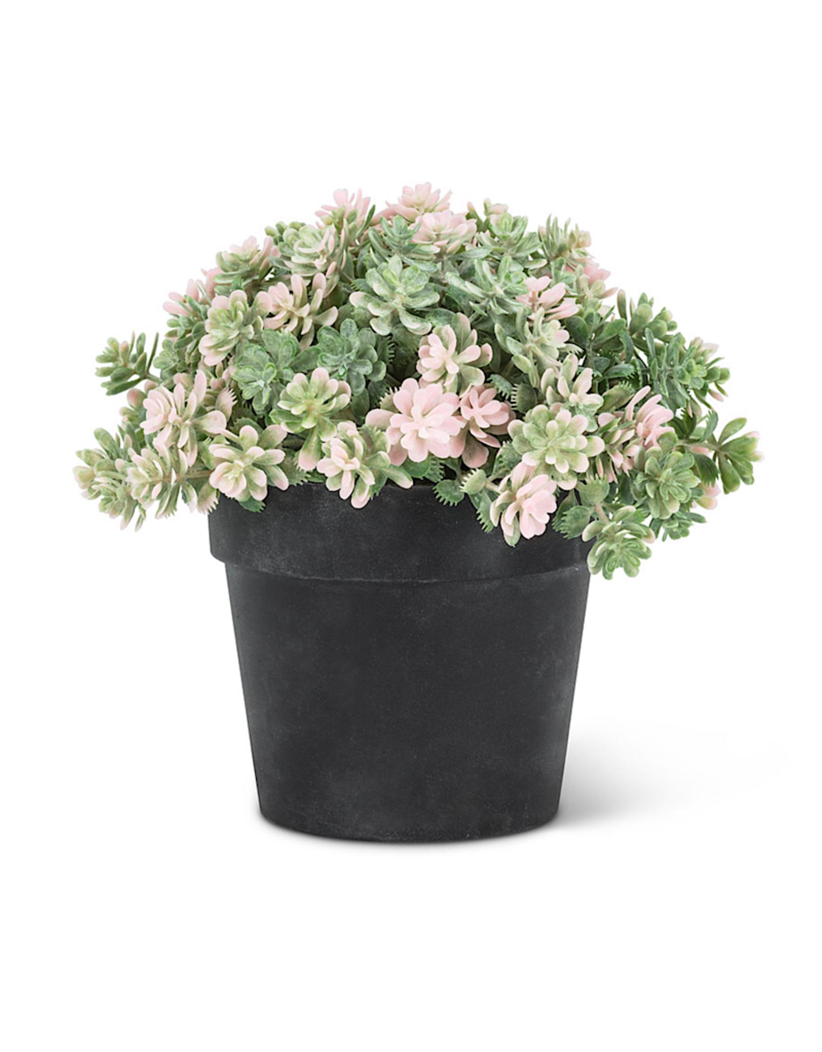 """Light Pink Leaf Plant Pot 5.5"""""""