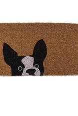 "Peeking Dog Doormat 18x30"""