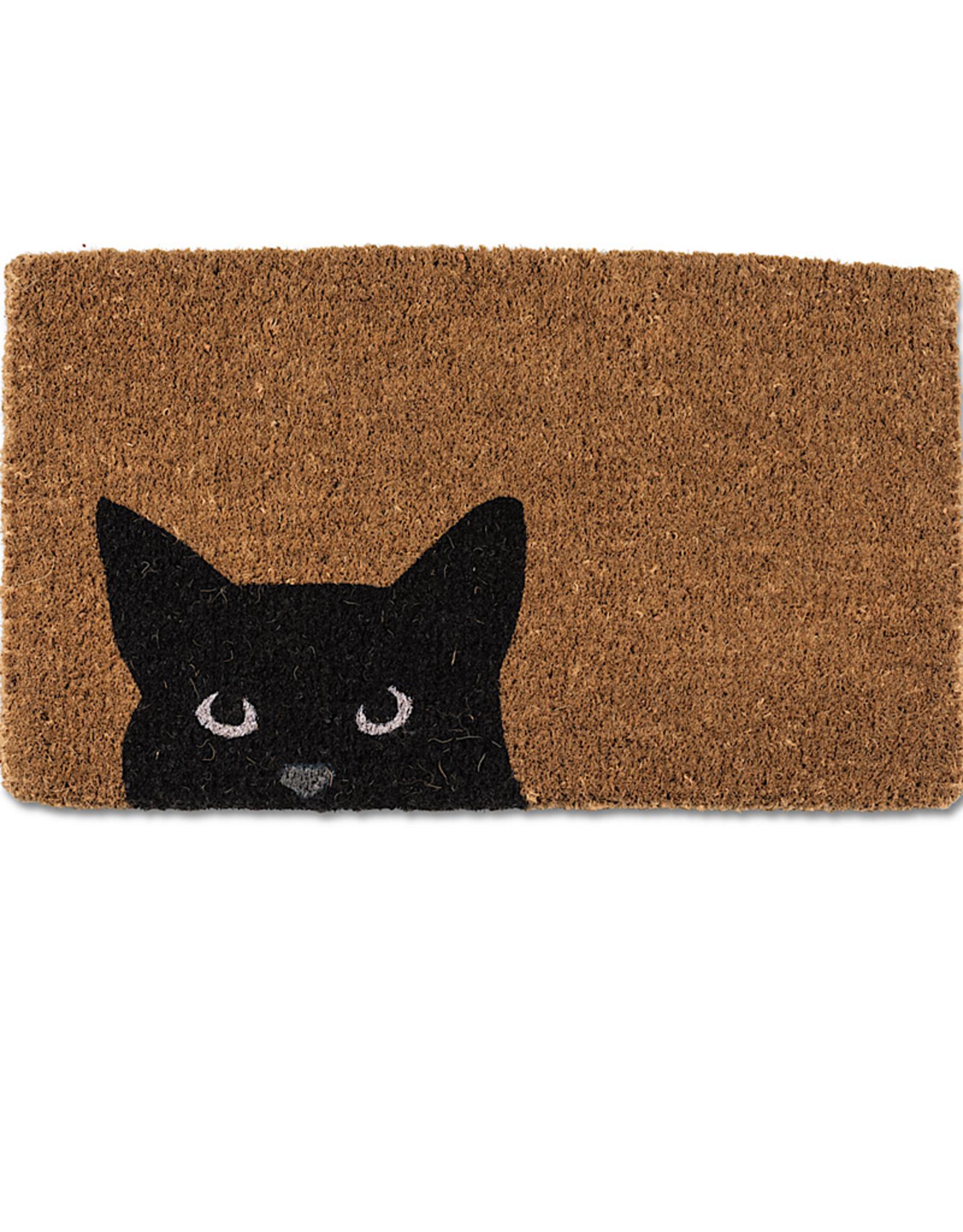 """Peeking Doormat Cat 18x30"""""""