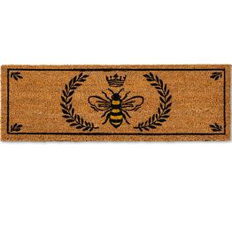 """Balcony Doormat Bee in crest 10x30"""""""