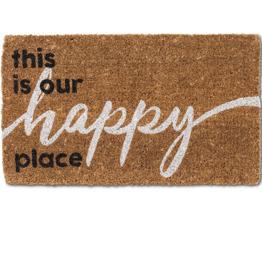"This is our Happy Place  Doormat-18X30""L"
