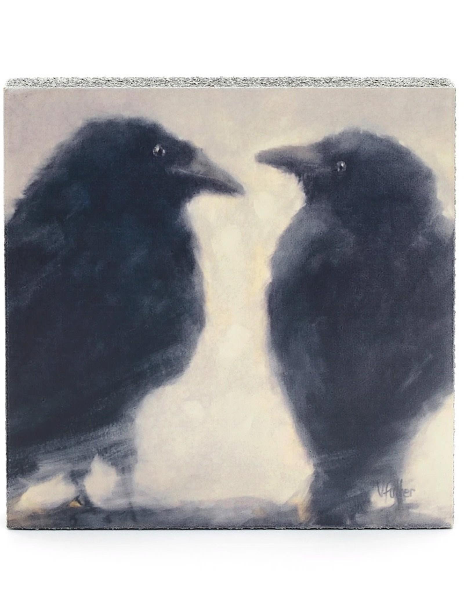 Cedar Mountain Small Art Block Talking Ravens