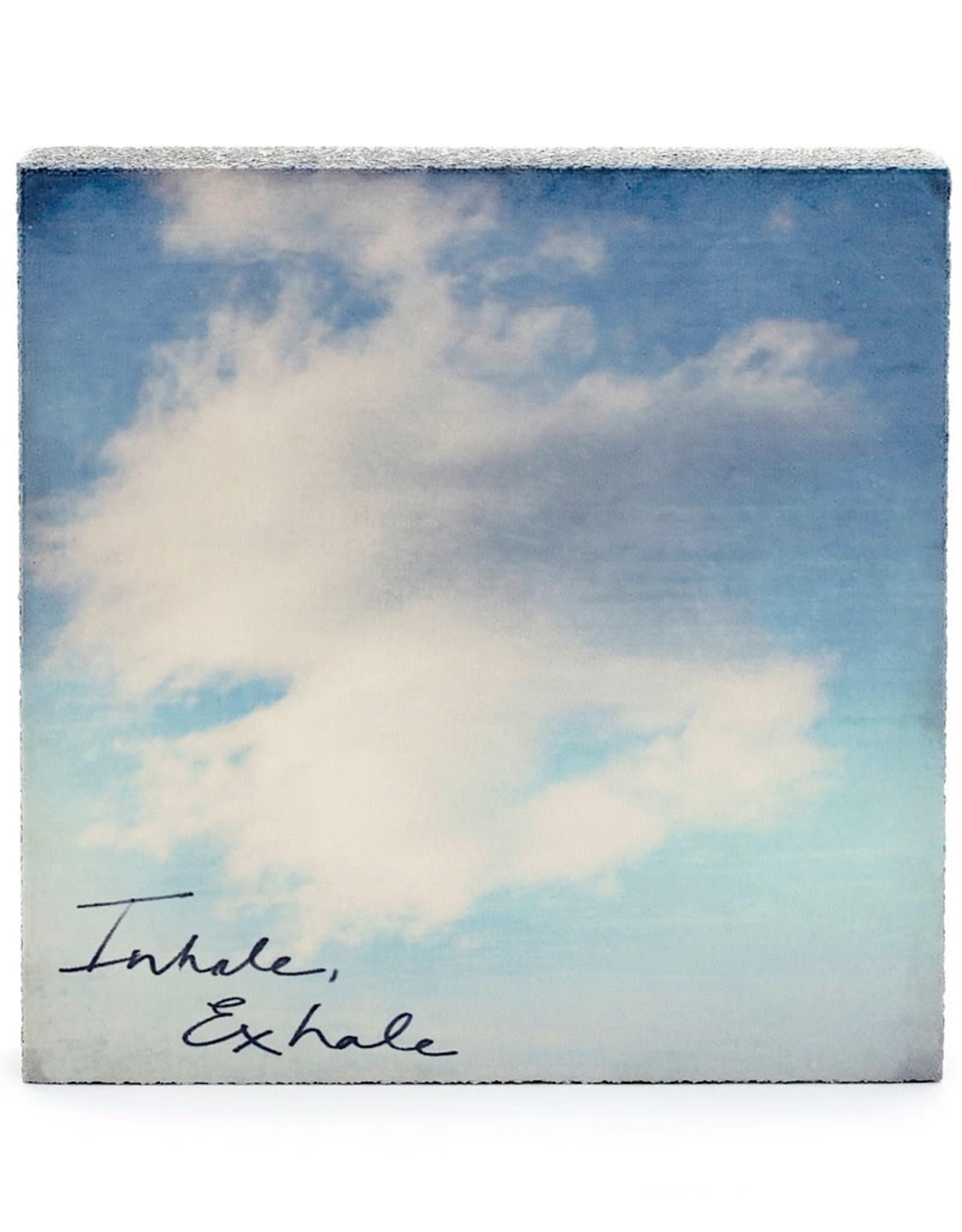 Cedar Mountain Small Art Block Inhale exhale
